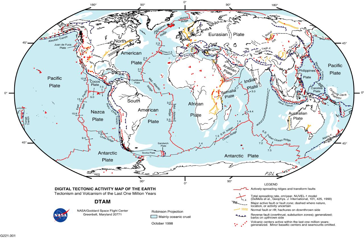 Researth active earth tectonic map of the world click gumiabroncs Choice Image